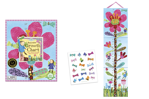 Growth Chart Pink Flower Dam Webshop